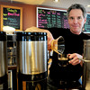 Newburyport: Bruce Vogel of Plum Island Coffee Roasters is holding a free tasting on Friday as a fundraiser for the Greater Newburyport Ovarian Cancer Awareness Group. Bryan Eaton/Staff Photo