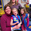 Newburyport: Daisy Troop 75336 leaders Heather Hansen, left, with Olivia, 7, and Jeanne Pomeroy with Kate, 6. Bryan Eaton/Staff Photo