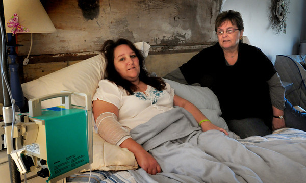 Salisbury: Holly DuVal is suffering from chronic Lyme disease, and her mother, Beverly Silver, right, is organizing a support group for families who have members suffering with similar problems. Bryan Eaton/Staff Photo