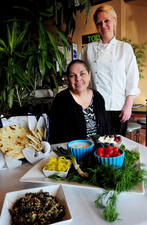 Newburyport: Carry Out Cafe owner Paula Simpson, left, and chef Jess Zulkiewicz will be at Great Chef's Night. Bryan Eaton/Staff Photo