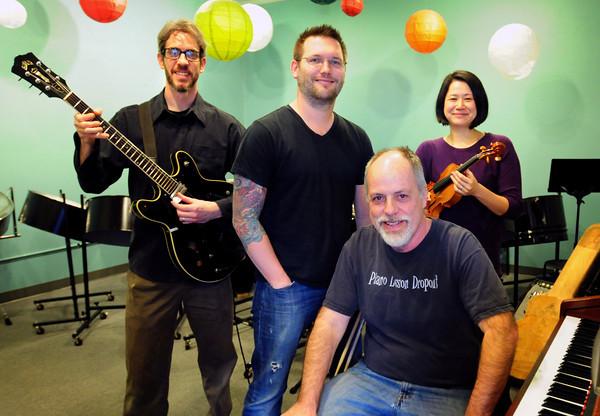 Newburyport: From left, Chuck Walker, Zach Fields, John Hyde and Megumi Sasaki. Bryan Eaton/Staff Photo