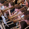 Byfield: The combined Triton Regional Middle School and elementary schools practice on Tuesday morning for a concert later at night. There was also a drama performance and student art work on display throughout the school for the fifth annual Triton District Arts Festival. Bryan Eaton/Staff Photo