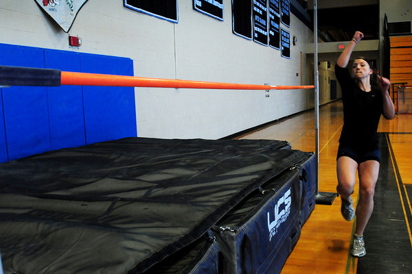Byfield: Triton high jump record breaker Kerstin Darsney. Bryan Eaton/Staff Photo