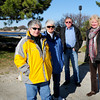 Newburyport: Proponents of an open waterfront at the West NRA parking lot in Newburyport, from left, Elizabeth Heath, Sandra Small, Lon Hachmeister and Joan Purinton. Bryan Eaton/Staff Photo