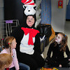 Seabrook: Seabrook Elementary School paraprofessional Michelle Eaton made the rounds of classrooms dressed as the Cat in the Hat before she and others read to students for Read Across America on Tuesday morning. Bryan Eaton/Staff Photo