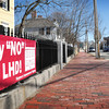 Newburyport: Signs from the group opposing the proposed historical district have been appearing around Newburyport. Bryan Eaton/Staff Photo