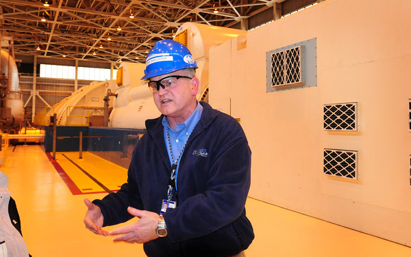 Seabrook: Tom Waechter talks about the huge generator at Seabrook Station. Bryan Eaton/Staff Photo