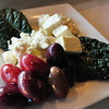 Newburyport: A blend of olives with feta cheese and Mediterranean kale. Bryan Eaton/Staff Photo