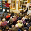 "Newburyport: Poet January Gill O'Neil reads at Jabberwocky Book store in Newburyport Saturday night. The program called ""What's Love Got to Do with It?"" also featured authors Kate Bolick and Tayari Jones. Jim Vaiknoras/staff photo"