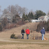 Amesbury: Warm weather brought walkers and their dogs to Woodsom Farm in Amesbury Sunday morning. Jim Vaiknoras/saff photo