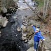 Newbury: Fish Count Coordinator Rob Stevenson talks about the alewife count by the Parker River near Central Street in Newbury. Jim Vaiknoras/staff photo