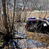 Salisbury: Scene of a single car accident on Rt 110 in Salisbury Friday afternoon. Jim Vaiknoras/staff photo