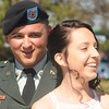 Newburyport: SPC Travis Souther and Marissa Games are married in front of friend and family at Market Landing Park Friday. Travis is being deployed later this spring. JIm Vaiknoras/staff photo