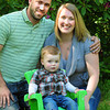 """Merrimac: Lucas McGowan, 18 months, is flanked by his parents Bill and Becky McGowan of Merrimac. The family is raising funds for their child, """"Lucas the Lionheart"""" who was born without a left ventricle in his heart. Bryan Eaton/Staff Photo"""
