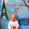 Merrimac: Emma Jouneay, 9, has a mural in her bedroom including the Eiffel Tower. Bryan Eaton/Staff Photo