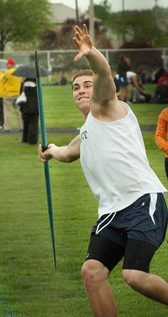 Newburyport: Triton javelin thrower Ryan Clay. Bryan Eaton/Staff Photo