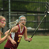 Newburyport: Newburyport senior Kelsey Crowley covers a Saugus offensive player yesterday. Bryan Eaton/Staff Photo