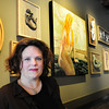 Newburyport: Lisa Riordan recently won a contest, sponsored by the Newburyport Art Association and Starbucks, to create a permanent exhibit for the renovated State Street shop. The contest was to create a piece inspired by the Starbucks logo and Newburyport's maritime history. Bryan Eaton/Staff Photo