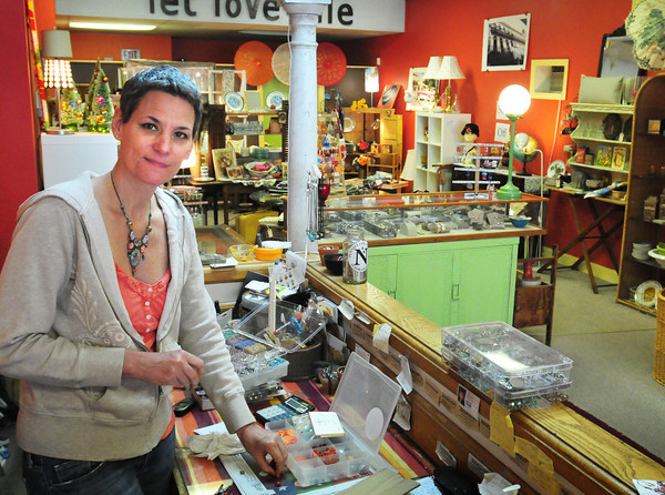 Newburyport: Liz Frame is closing her shop Fancy Schmancy on Pleasant Street in Newburyport and will be pursuing more in the music world. Bryan Eaton/Staff Photo