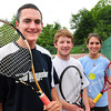 West Newbury: Undefeated Pentucket High tennis players, from left, Chris Adams, Danny Ryan and Rachael Downey. Bryan Eaton/Staff Photo