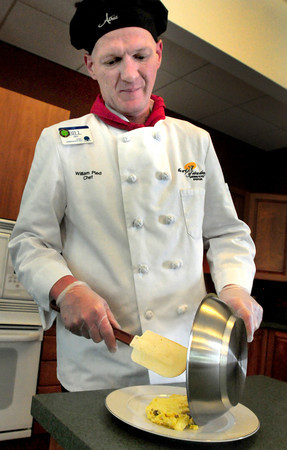 Newburyport: Bill Pied, chef at Atria Merrimack Place, recently won a statewide service award. Bryan Eaton/Staff Photo