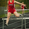Amesbury: Amesbury's Emily Martin finishes in the 400 meter hurdle. Bryan Eaton/Staff Photo
