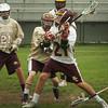 Newburyport: Newburyport's Tyler Matses throws for a goal against Whittier Vo Tech. Bryan Eaton/Staff Photo