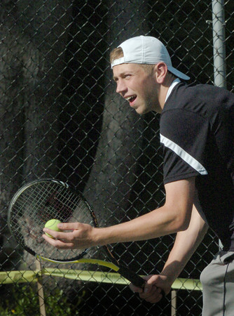 Newburyport: AJ MacDougall is a senior on the boys tennis team who has excelled in three sports. Bryan Eaton/Staff Photo