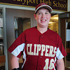 Newburyport: Newburyport High baseball team manager Cam Toye has been an inspiration to his team. Bryan Eaton/Staff Photo