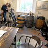 Newburyport: Film maker Ted Reed works on a documentary at the Maritime Museum in Newburyport. JIm Vaiknoras/staff photo