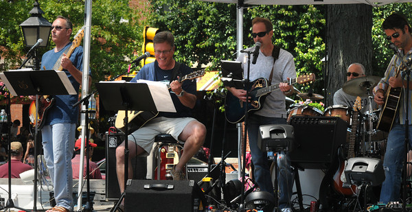 Newburyport: Way to the River performs at the Spring Fest in Market Square in Newburyport Monday afternoon.The tow day event featured , crafts, food, childrens games, as well as entertainment. jim Vaiknoras/staff photo