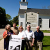 Amesbury: Carol Glen, Morton Golbert, Carol Finn, Joe Finn and Hugh McCabe are  planning the 5k race to benefit the restoration and renovation of Union Congregational Church in Amesbury. The race is called Might Merrimack River Run/Walk. Jim Vaiknoras/staff photo