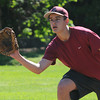 Newburyport: Clipper standout  Connor MacRae playing first base at practice. Jim Vaiknoras/staff photo