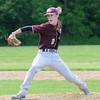 West Newbury: Whittier pitcher Paul Mahoney fires one in against Pentucket. Jim Vaiknoras/staff photo