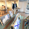 Newburyport: Brian Allen Judges the  NAA regional juried show. Jim Vaiknoras/staff photo
