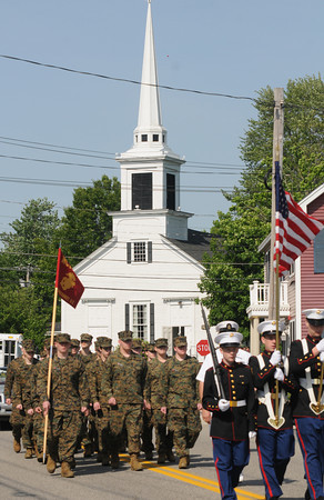 Seabrook:Members of the Marine Jr ROTC make their way down Walton Road Sunday morning in the annual Seabook Memorial Day Parade . Jim Vaiknoras/staff photo