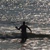 Newbury: A surf caster wades into the ocean on Plum Island early Saturday morning. Jim Vaiknoras/staff photo