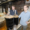 "Sean Cody and Steve Sanderson are teamng up to craft a recipe for the first ever ""Amesbury Days Ale.""<br /> Cody, of Cody Brewing Company (formerly of BYOB -- Brew your own Beer -- in Danvers), and Sanderson of Riverwalk Brewing (winner of the History Channel's History on Tap Home home brewing competition), came up with the idea as a way to contribute to Amesbury Days expenses. The beer will make its debut on Saturday, June 29, at the 3rd annual Amesbury Brewfest, sponsored by HEAT Event Management. A portion of proceeds from the ale sale and Brewfest tickets will be contributed to Amesbury Days. Jim Vaiknoras/staff photo"