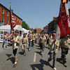 Newburyport: Scouts from Troop 21 march up State Street in the annual Newburyport Memorial Day Parade. Jim Vaiknoras/staff photo