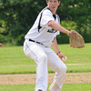 West Newbury: Pentucket pitcher Jon Simard fires one in against Whittier Fridat at Pentucket. Jim Vaiknoras/staff photo