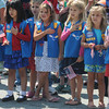 Newburyport: Members of Daisy troop 85378 carry flags at the annual Newburyport Memorial Day ceremony at City Hall. Jim Vaiknoras/staff photo