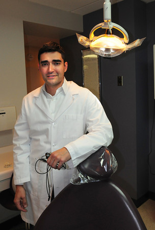 Newburyport: Iranian-born Sam A. Merabi opened his dental practice on Brown Square in Newburyport. Bryan Eaton/Staff Photo
