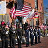 Newburyport: The Newburyport Police and US Coast Guard colorguards took part in Newburyport's Veteran's Day ceremonies in front of city hall. Bryan Eaton/Staff Photo