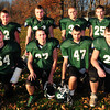 West Newbury: Pentucket seniors, front from left, Dan Thornton, Connor McGuirk, Franco Pizzarella and Cody Rothwell. Back, from left, Kevin Miles,Tim Freiermuth, Mike McCarron and J.C. West. Bryan Eaton/Staff Photo