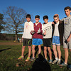 "Newburyport: Self-described ""crazy runners"" on the Newburyport cross country team, from left, Gabe Ficht, Chris Orlando, Joe Santo, Joe Molvar and Max Vye. Bryan Eaton/Staff Photo"