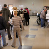 Amesbury: Amesbury voting was moved to the cafeteria at Amesbury High School for the first time as voting was expected to be heavy as it was. Bryan Eaton/Staff Photo