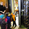 Newburyport: Brown School preschoolers check out the thick door to the Institution For Savings bank's safe at the main office on a tour by teller Tracy Howard. The children are learning about community and visit from time to time different institutions in Newburyport. Bryan Eaton/Staff Photo
