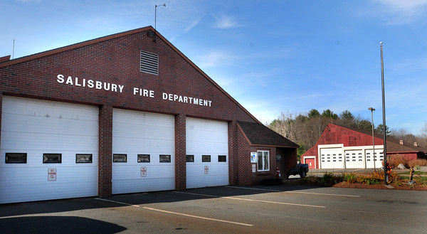 Salisbury: The Salisbury Fire Station, left, and DPW barn were built in the mid-1970's. Bryan Eaton/Staff Photo