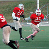 Amesbury: The Amesbury High School football team practices for tonight's game against Lynnfield. Bryan Eaton/Staff Photo