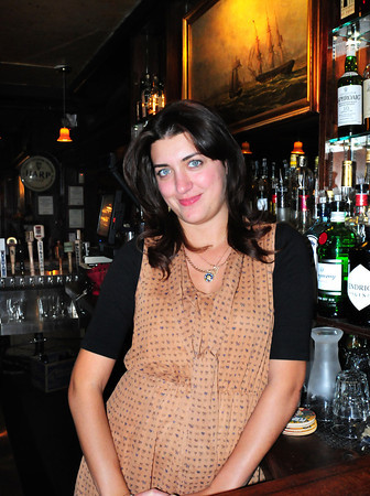 Newburyport: Inessa Veber came to the United States four and a half years ago from Russia and started working at the Grog restaurant 6 months later where she's now a bartender at part-time manager. Bryan Eaton/Staff Photo
